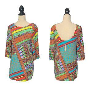 NWT Ark & Co. Geo Tunic Shift Dress Sz S